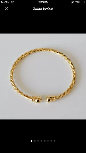 Gold plated cuff bangle bracelet women's jewelry for Sale in Silver Spring, MD