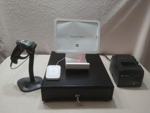 Complete Square POS Hardware Setup (Drawer, Stand, Contactless & Chip Reader, Printer Barcode Scanner) LIKE NEW for Sale in Kissimmee, FL