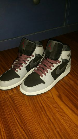 NeW JORDANS GREY BLACK PURPLE AND WHITE NIKES GREAT CONDITION 50 OBO for Sale in Rialto, CA