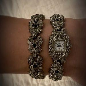 Vintage Vivani Filigree Style Watch & Bracelet Set for Sale in Canton, GA