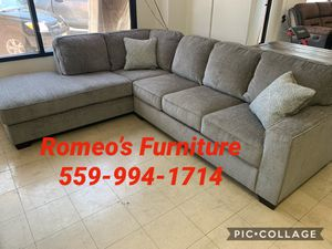 Sectional sofa gray with pillows take it home today for Sale in Madera, CA