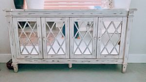 Vintage grey and mirror Tv stand for Sale in Tampa, FL