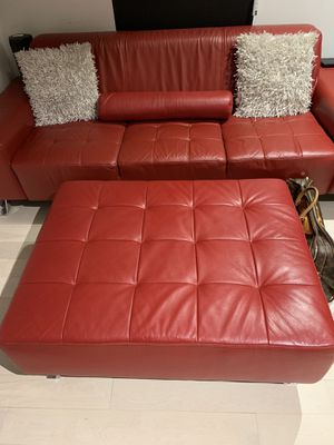 **LIKE NEW...Red Leather Sofa set for Sale in Atlanta, GA