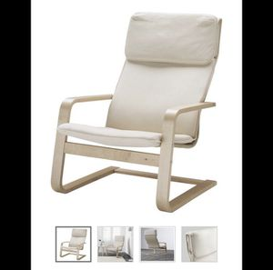 2 PIECE IKEA arm chair comes with ottoman for Sale in Silver Spring, MD