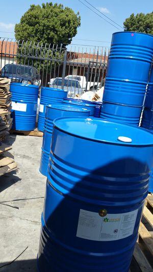 Food Grade 55 gallon metal drums $15 each for Sale in Rosemead, CA