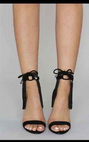 Spicy Black Fringe Heels!!! for Sale in Ceres, CA
