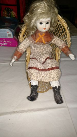 Antique Dynasty doll from 1990's in chair for Sale in BAYVIEW GARDE, IL
