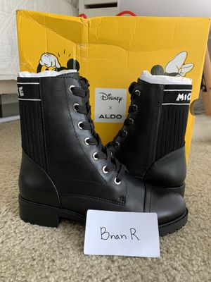 Disney x Aldos Collab Boots Ankle Boot Ohsomickey Size 6 brand new for Sale in Fresno, CA
