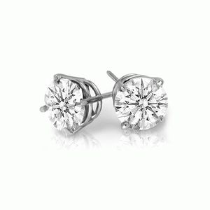 0.25 Ct SI1 Diamond Earrings 14Kt White/Yellow Gold for Sale in Los Angeles, CA