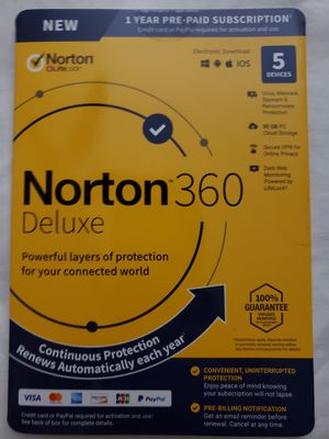 Norton 360 Deluxe for Sale in Fontana, CA