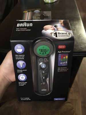 NEW Braun 3 in 1 NO TOUCH Thermometer for Sale in Escondido, CA