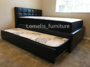 Full/twin trundle with mattresses included for Sale in CRYSTAL CITY, CA