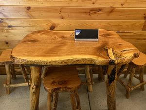 Wood table with 4 chairs for Sale in Heber, AZ