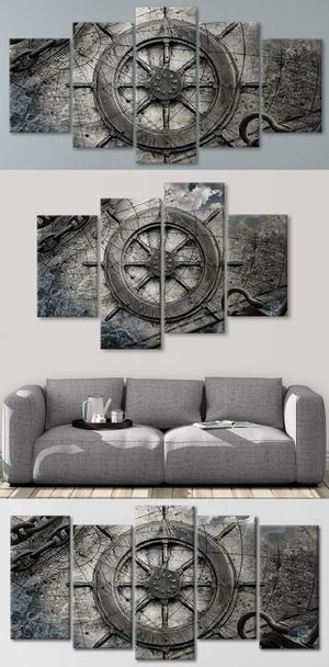 Ship wheel 😍 Framed Wall Art paintings Canvas 👇Purchase Here 👇 StunningCanvasPrints-com Prices Start @ $79 Hundred of Designs FREE SHIPPING!🚚🚀✈️ for Sale in Hoboken, NY