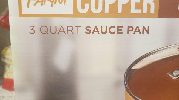 Parini Copper Ceramic 3 Quart Sauce Pan