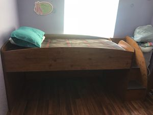 Twin Loft Bed with 2 dressers for Sale in Wichita, KS