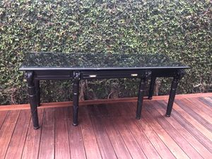 Stunning chic custom black rams head desk / credenza! for Sale in Los Angeles, CA