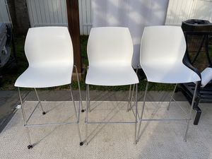Bar Height Modern Stools • Set of 3 • MUST SELL! for Sale in Huntersville, NC