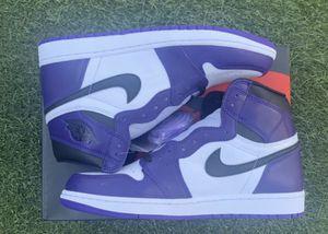 Jordan 1 court purple for Sale in Fresno, CA