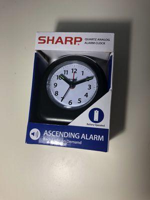 NEW Sharp Quartz Analog Black Ascending Alarm Clocks Battery Operated for Sale in Milford, CT