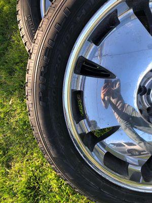245x50x20///4 Chrome Rims and 4 Pirelli Scorpion brand new tires for Sale in Arlington, VA