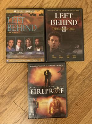 Left Behind ~ Left Behind 2 ~ Fireproof ~ DVD Movies ~ Kirk Cameron for Sale in Thornton, CO