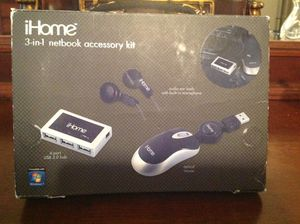 New! IHome 3 in 1 Net pack Accessory Kit! A must if U Travel ! Love mine! Love ! Love! the mini roll mouse! for Sale in Austin, TX