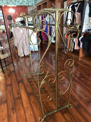 Clothing rack retail boutique fixture gold bronze for Sale in West Bloomfield Township, MI