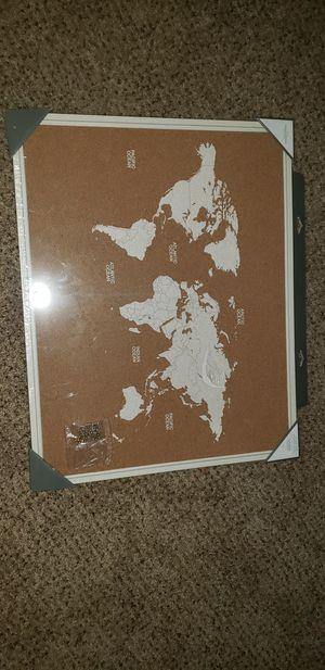 World map corkboard for Sale in Avondale, AZ
