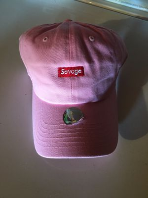 Pink savage box logo hat for Sale in Duncanville, TX