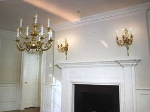 Pair of gold ornate sconces for Sale in Weston, MA