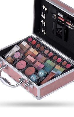 Makeup Kit for Women-Full Starter Cosmetics Set with Eye Shadow Lip Balm Blush Lip Gloss Brush Lip Pencil Eye Pencil and Mirror for Sale in Temple City,  CA