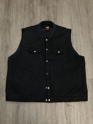 Black Demin Motorcycle Vest for Sale in Ontario, CA