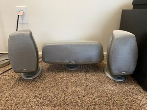 Klipsch surround speakers center and front for Sale in El Cajon, CA