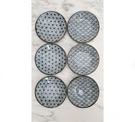 6 Piece Japanese Porcelain Dipping Dish Condiment Plates for Sale in Cape Coral,  FL