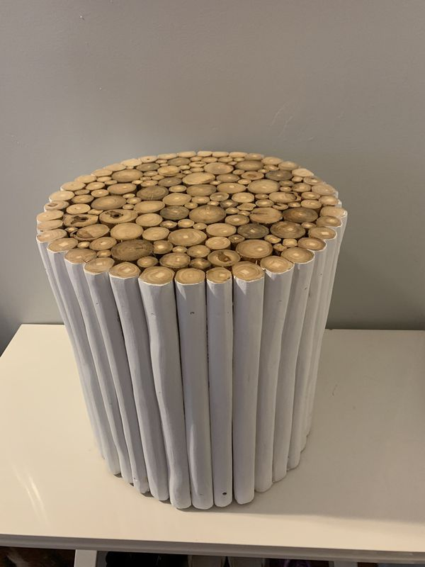 Wooden side table / stool
