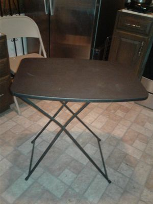 Folding table black for Sale in Cleveland, OH
