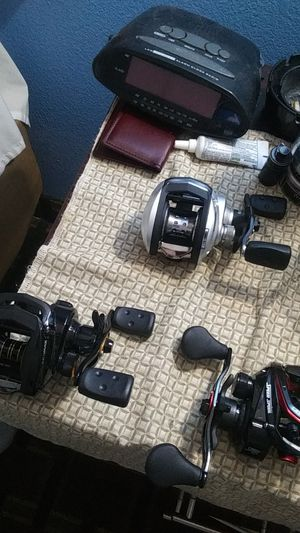 3 fishing reels.brand new 2 aba Garcia's pro max and 1 Lewis laser 6 bearing for Sale in Edmond, OK