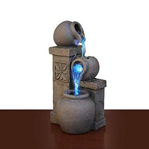 Small Tabletop Water Fountain Changes Colors LED Colored Lights Battery or Electric Perfect for Meditation or Sleep Issues Christmas Gift for Sale in Sacramento, CA