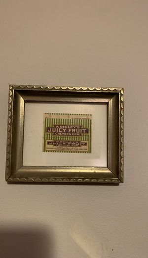 Vintage gum wrapper in vintage frame for Sale in Kansas City, MO