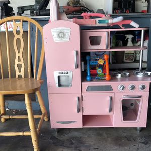 Girls Kitchen Set, Vacuum Toy and Chair for Sale in San Jose, CA