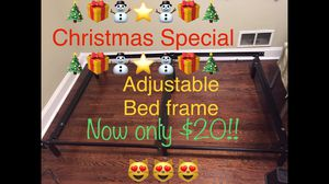 Bed frame almost NEW King queen full twin stand alone metal bed frame for Sale in Roanoke, VA