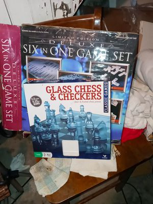 New both still in box glass pieces to the games for Sale in St. Louis, MO