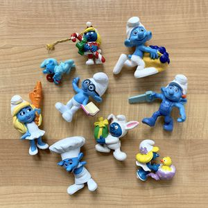 Collectable Smurfs Figurine Toy Lot of 9 for Sale in Elizabethtown, PA