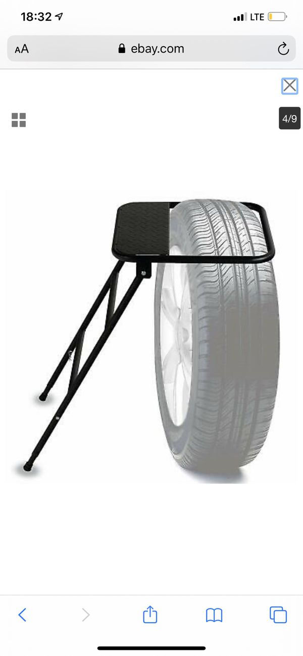 SUNCOO Adjustable Tire Step for Truck, SUV, RV, Semi, Heavy Duty 400 lb. Capacity,Portable Folding Wheel Steps with Non-Slip Powder-Coated Steel Surf