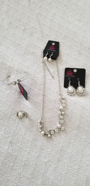 Necklace, 2 pair earrings, bracelet, ring for Sale in Winchester, VA