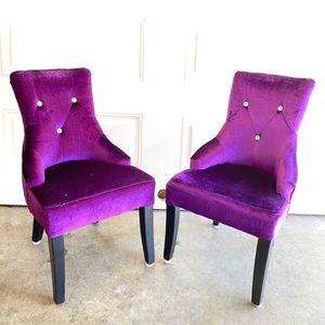 Kids Purple Velvet Rhinestone Retro 2 Chairs for Sale in Costa Mesa, CA