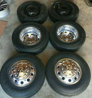 "17"" Dodge Ram 3500 Dually Wheels Rims Rines and Tires Llantas for Sale in San Diego, CA"