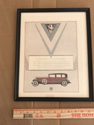 Used, Framed old car ads for Sale for sale  McDonough, GA