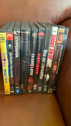 DVD Movie Lot Final Fantast 7 The Mummy Shoot Em Up Scary Movie Jackass EuroTrip Road Trip for Sale in Aurora, CO